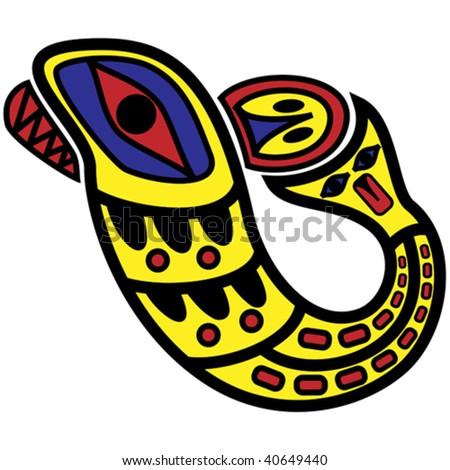 vector symbolic design in pacific northwest native style. - stock vector