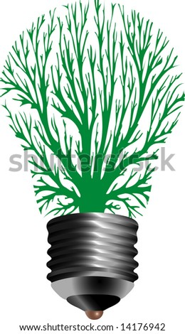 vector symbolic illustration for ecological energy - stock vector