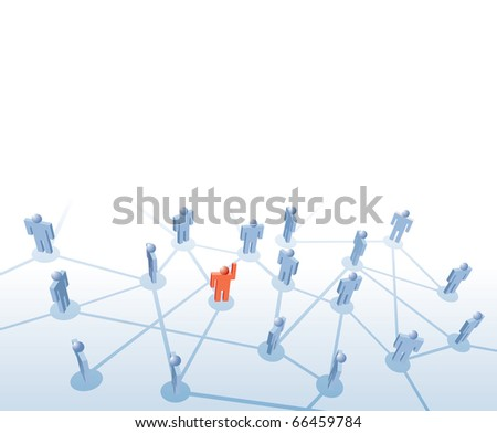 vector symbolic illustration with leader man - stock vector