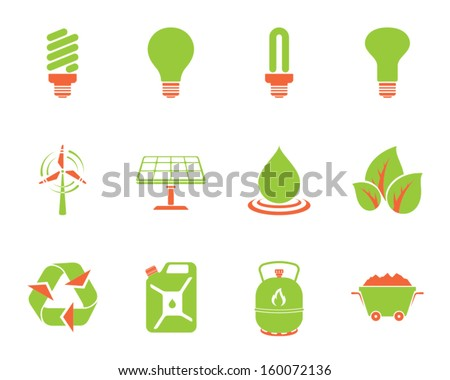 vector symbols for energy electricity power and eco