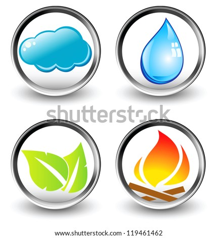 Vector symbols of four elements of nature - vector - stock vector
