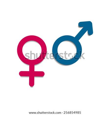 Vector Symbols Gender Male Female Mars Stockvector 256854985