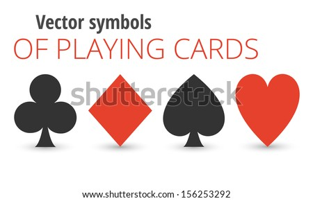 vector symbols of playing cards - stock vector