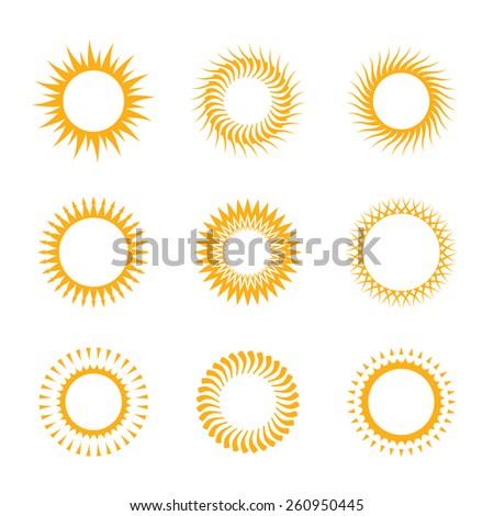 Vector Symbols Sun Stock Vector 260950445 Shutterstock