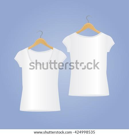 vector tshirt templates tshirt mockup woman stock vector royalty