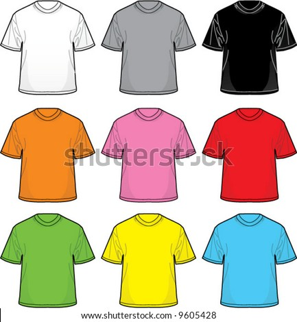 Vector T-Shirts: Great for positioning your own designs! - stock vector
