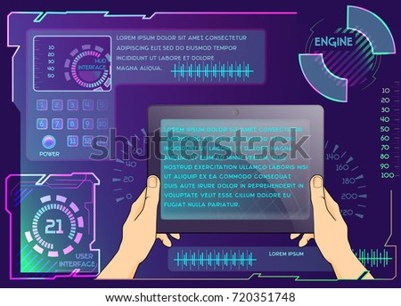 Vector tablet background space text use stock vector 720351748 vector tablet background with space for text use in website corporate report presentation voltagebd Images