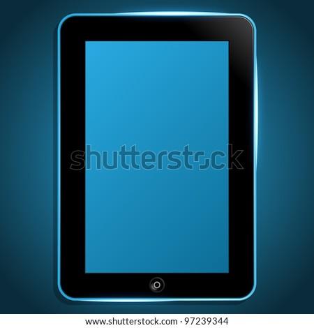 Vector Tablet PC - stock vector