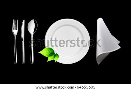 Vector Tableware - stock vector