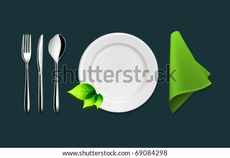 Vector Tableware Set - stock vector