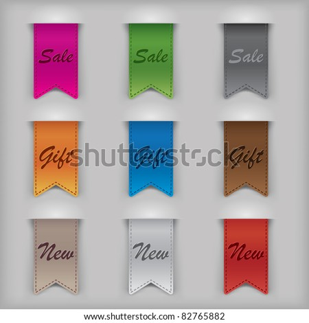 Vector Tag - stock vector
