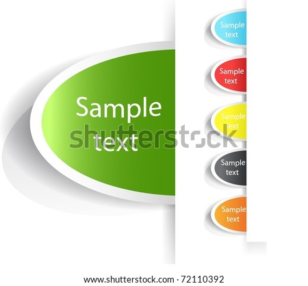 Vector Tag Label. - stock vector