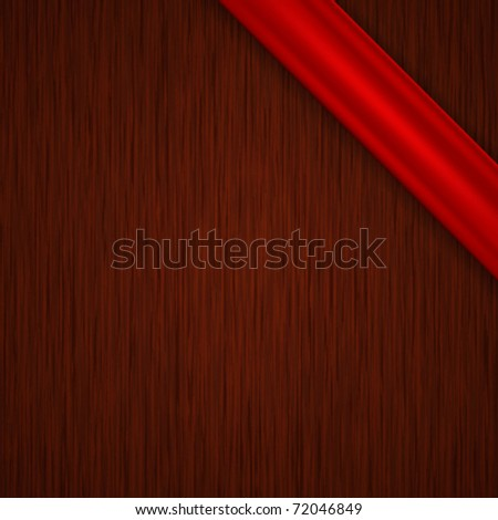 Vector tag with wood texture - stock vector
