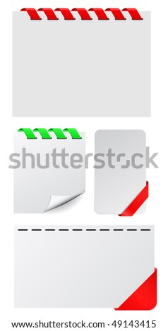 vector tags - stock vector