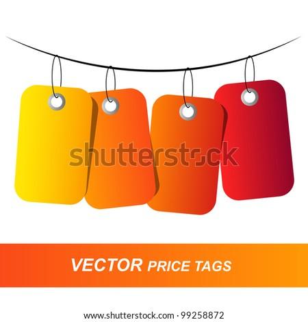 vector tags - stock vector