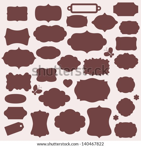 Vector tags for design. - stock vector