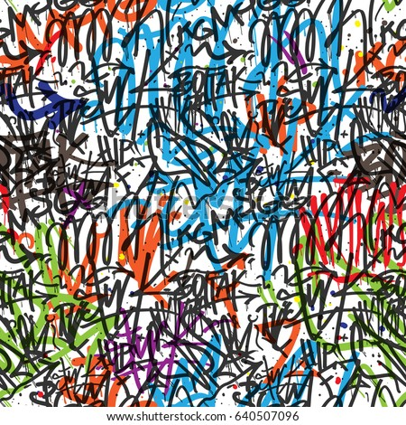 Graffiti Seamless Texture Sticker Bomb Background Stock Illustration 460837465 - Shutterstock
