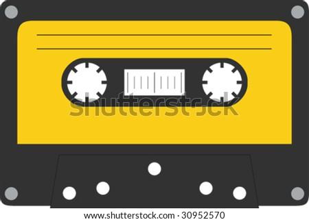 Vector tape cassette - stock vector