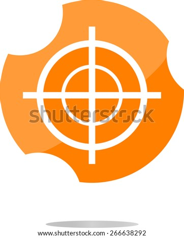 vector target icon, isolated on white background - stock vector