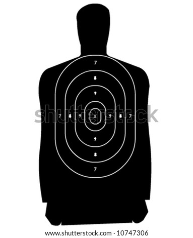 Vector Target (print and shot) - stock vector