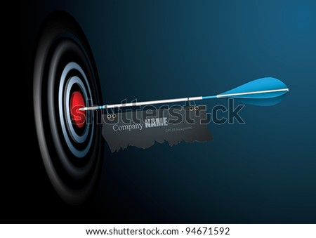 Vector Target with place for your text - stock vector