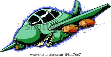 Vector Tattoo Airplane - stock vector
