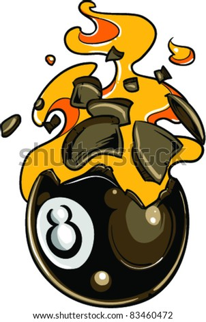 Vector Tattoo Billiard Ball - stock vector