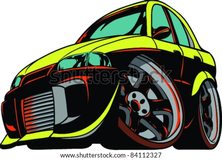 Vector Tattoo Car - stock vector