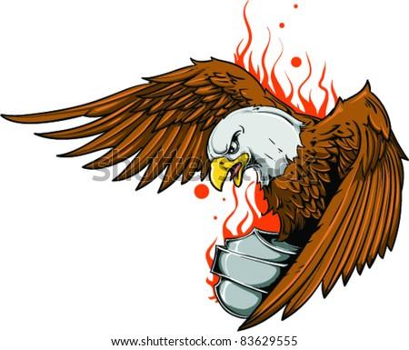 bald eagle attacking oldschool tattoo design stock vector 167376431 shutterstock. Black Bedroom Furniture Sets. Home Design Ideas