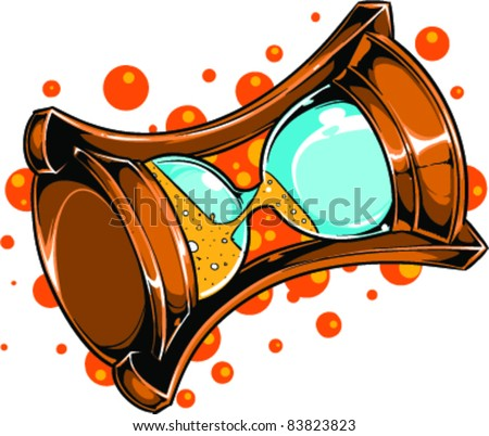 Vector Tattoo Hourglass - stock vector