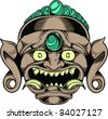 Vector Tattoo Monster - stock photo