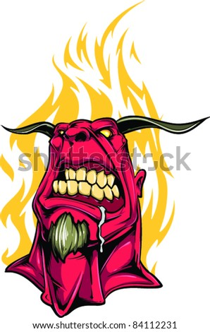 Vector Tattoo Monster - stock vector
