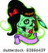 Vector Tattoo Zombie Girl - stock vector