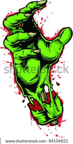 Vector Tattoo Zombie Hand - stock vector
