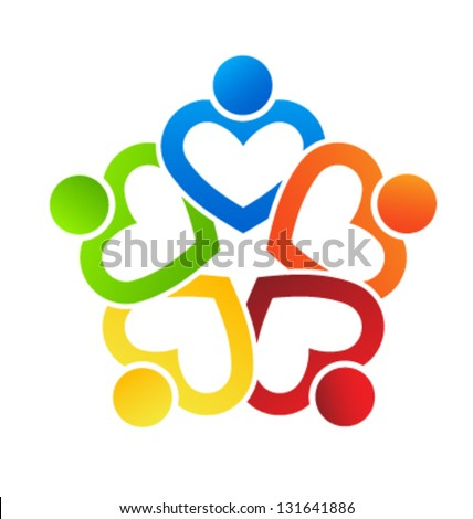 Vector Team Heart 5 - stock vector