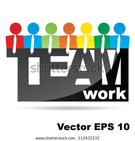 Vector Teamwork symbol