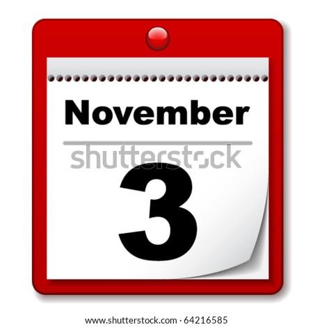 vector tear-off day calendar - stock vector