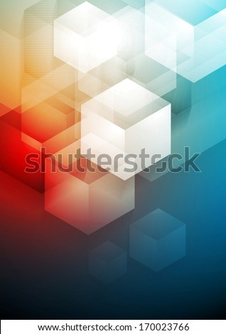 Vector tech abstract background - stock vector