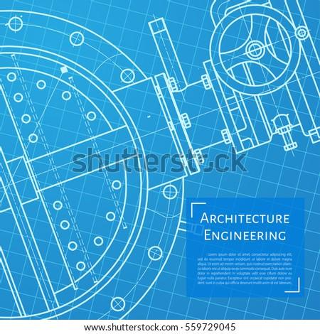 Vector technical blueprint mechanism engineer illustration stock vector technical blueprint of mechanism engineer illustration malvernweather Images