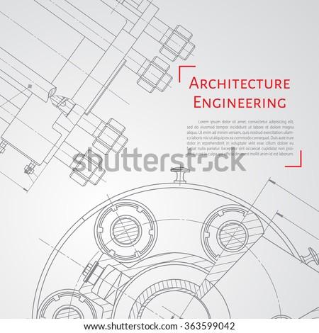 Vector technical blueprint mechanism engineer illustration stock vector technical blueprint of mechanism engineer illustration set of corporate identity templates architecture malvernweather Choice Image