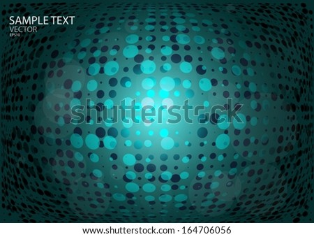 Vector techno dot background   design template - Vector techno web layout illustration