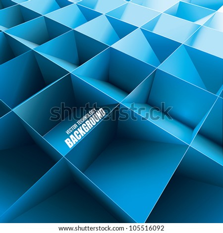 Vector Technology background - stock vector