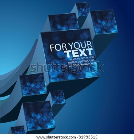 Vector Technology Background. 3d Cubes - stock vector
