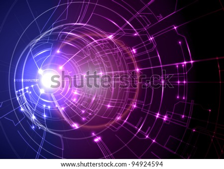 Vector Technology Background Design - stock vector