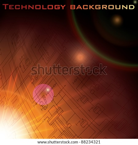 Vector technology electronic schematic diagram background. eps10 - stock vector