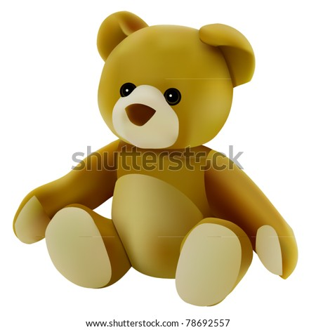 vector teddy bear - stock vector