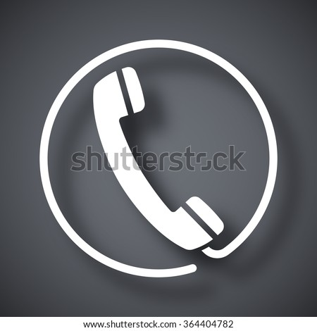 Vector telephone receiver icon - stock vector