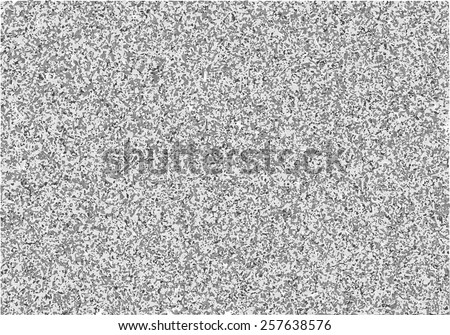Vector television interference. Black and white noise on tv screen. Gray shades glitch grunge texture. - stock vector