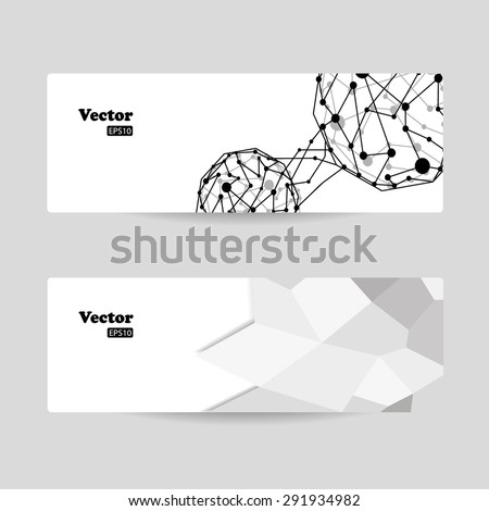 Vector template banners with digital technology and internet abstract background - stock vector