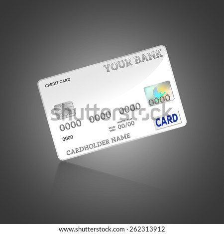 Vector - Template credit card isolated on background - stock vector